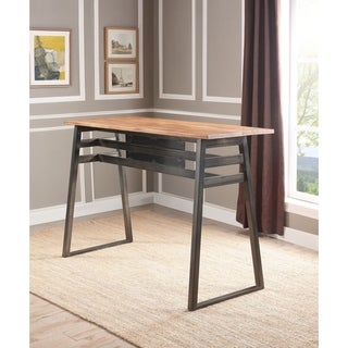 ACME Scarus Bar Table in Natural and Gunmetal
