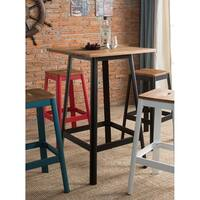ACME Jacotte Bar Table in Natural and Black