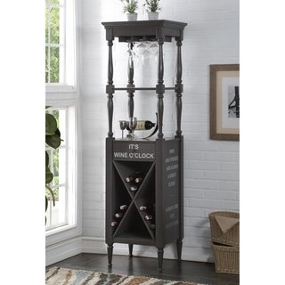 ACME Anthony Wine Cabinet in Antique Gray