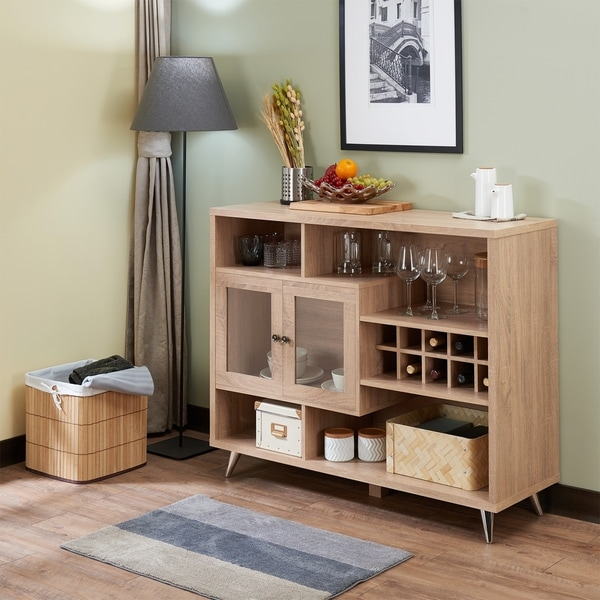 Palm Canyon Conejara Server in Rustic Oak