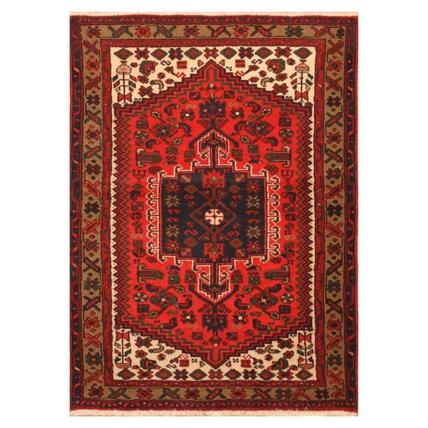 Hand Knotted Heriz Wool Fine Persian Oriental Area Rug: Shop Handmade Herat Oriental Persian Hand-knotted Heriz