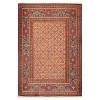 Handmade Herat Oriental Persian Hand-knotted Moud Wool Rug - 3'7 x 5'
