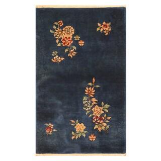 Handmade Herat Oriental Chinese Hand-knotted Art Deco 1920's Wool Rug (3' x 5')