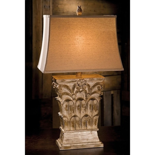 Urban Designs Grotto Rustic Sculpted Table Lamp