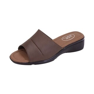 24 HOUR COMFORT Stacy Women Extra Wide Width Open-Toe Slide Sandal (More options available)