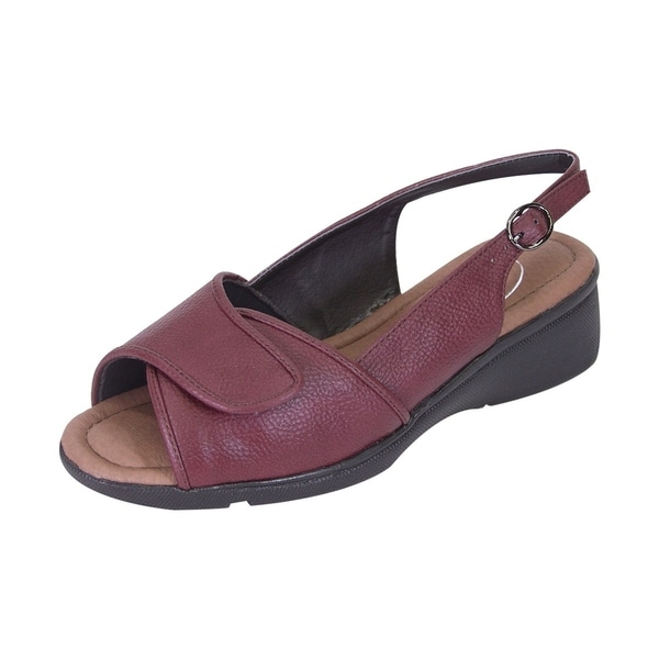 d71be4be9317f 24 Hour Comfort Shirley Women Extra Wide Width Adjustable Upper Slingback