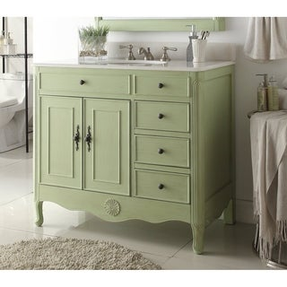 38u0027u0027 Daleville Bathroom Sink Vanity With MIR/BS   Vintage Green