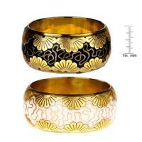 Handmade Saachi Foil Flower Bangle Bracelet - Set of 2 (India)