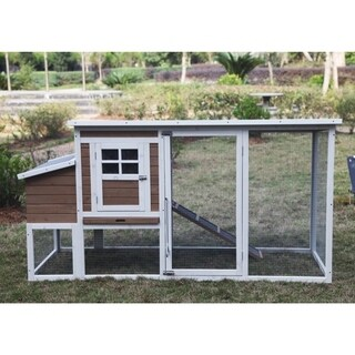 ALEKO Rabbit Hutch & Chicken Hen Coop Cage