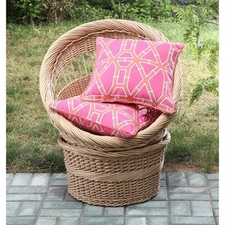 Clairebella Small Cane 2-pack 18x18in Outdoor Decorative Pillow Set (2 options available)