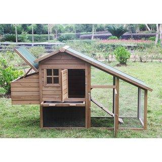 ALEKO Bunny Hutch Small Pet House Chicken Hen Coop Cage