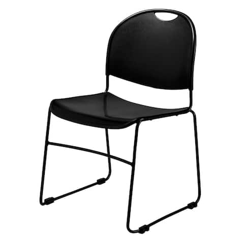 National Public Seat Black Commercialine Stack Chair