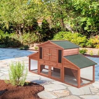 ALEKO Chicken Hen Coop Bunny Hutch Small Pet House