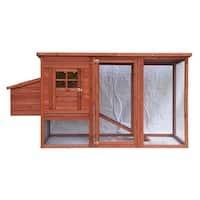 ALEKO Chicken Coop Wooden Hutch House 78 x 30 x 40 Inches