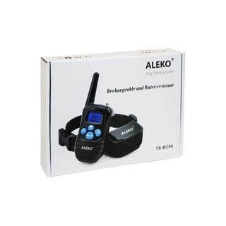 ALEKO Remote Dog Training Collar Rechargeable and Water Resistant