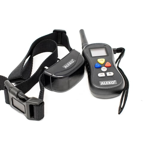 ALEKO Water Resistant Remote Pet Training Dog Collar 16 levels
