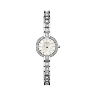 Bulova Women's Stainless CrystalAccent Bracelet Watch