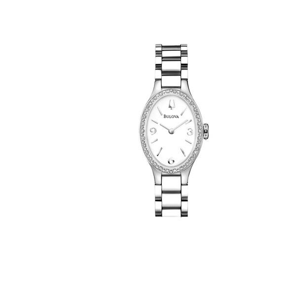 Bulova Women's 96R191 Stainless Diamond Accent Oval Bracelet Watch