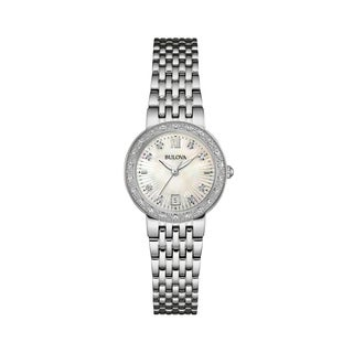 Bulova Women's 96R203 Diamond Accent Stainless Bracelet Watch