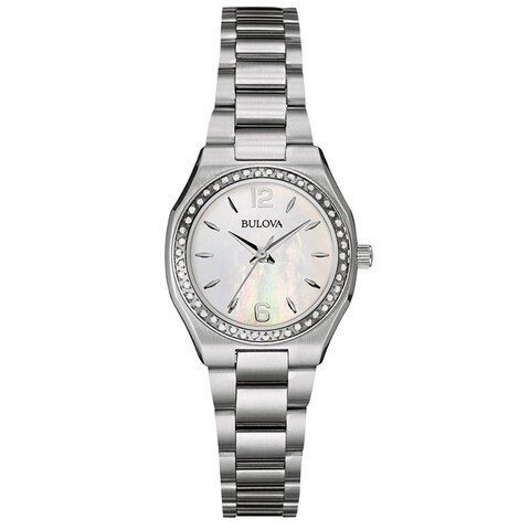 Bulova Women's Stainless Diamond MOP Dial Bracelet Watch
