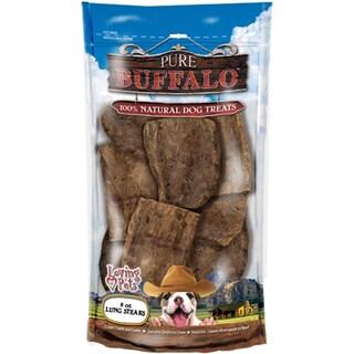 Pure Buffalo Lung Steaks Dog Treat 8oz