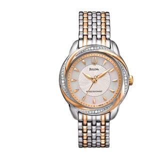 Bulova Women's 98R153 Precisionist Brightwater Two-Tone Stainless Diamond Accent Bracelet Watch