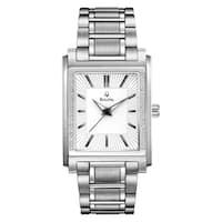 Bulova Men's 96E113 Diamond Case Stainless Bracelet Watch