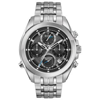 Bulova Men's 96B260 Precisionist Chronograph Stainless Bracelet Watch - N/A