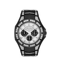 Bulova Men's 98C102 Crystal Black Stainless Bracelet Watch