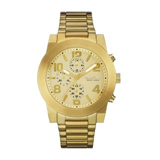 Caravelle NY Men's 44A105 Goldtone Stainless Chronograph Bracelet Watch