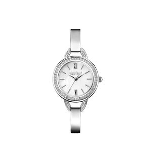 Caravelle NY Women's 43L166 Crystal Stainless Bangle Watch