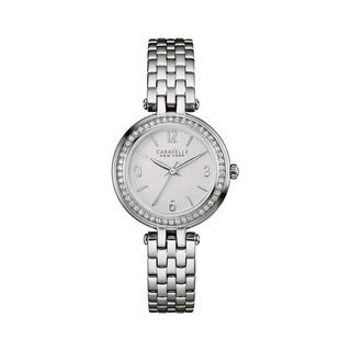 Caravelle NY Women's 43L185 Stainless Crystal Accent Bracelet Watch