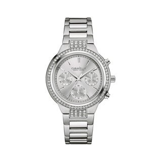 Caravelle NY Women's 43L186 Stainless Chronograph Crystal Accent Bracelet Watch