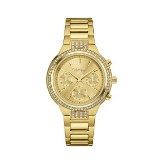 Caravelle NY Women's 44L179 Goldtone Stainless Crystal Accent Chronograph Bracelet Watch