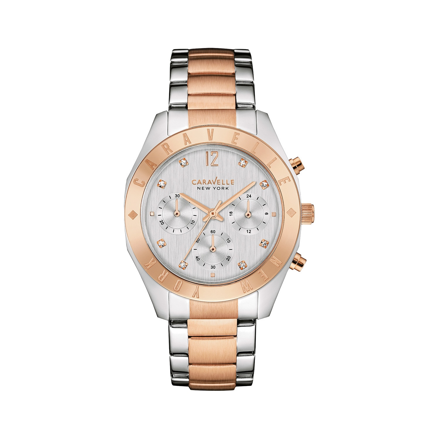 BULOVA Caravelle NY Women's 45L156 Two-tone Stainless Chr...