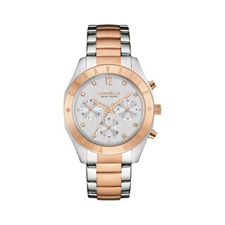 Caravelle NY Women's 45L156 Two-tone Stainless Chronograph Bracelet Watch