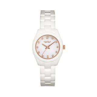 Caravelle Ny Women's 45L159 White Ceramic Cyrstal Accent Bracelet Watch
