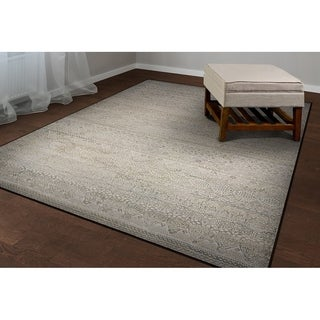 Couristan Easton Capella Ivory-Light Grey Area Rug - 6'6 x 9'6