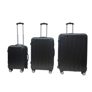 Rivolite Evolution Black 3-piece Hardside Spinner Luggage Set
