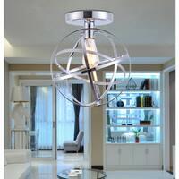 Kreszentia 1-light Chrome 11-inch Globe Semi-flush Mount with Bulb