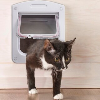 Paws & Pals Dog Cat Flap Doors with 4 Way Lock for Pets Entry & Exit