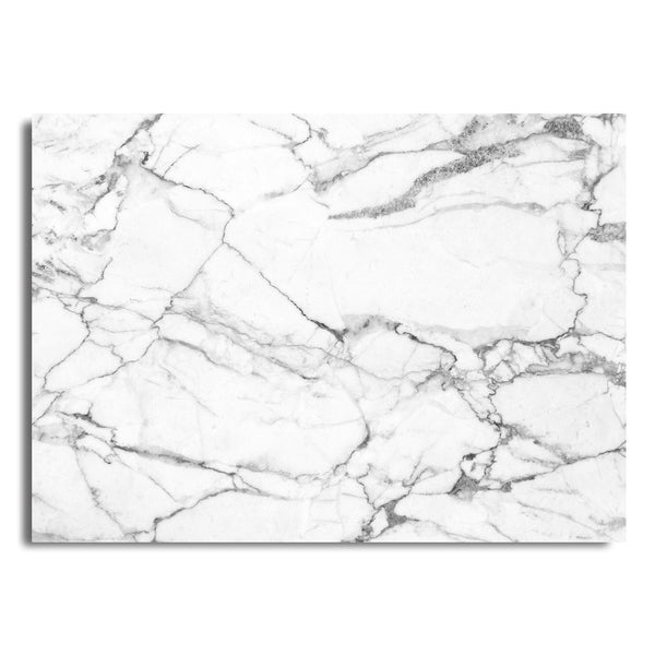 Charmant Blissful Living White Marbles 4 Pack Rectangle Printed Placemats ...