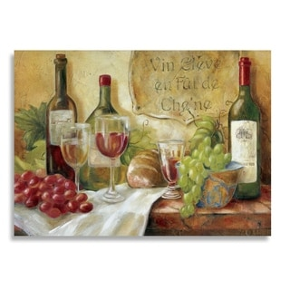 """Asher Home Wine and Grapes 4 Pack Rectangle Printed Placemats 18""""x13"""""""