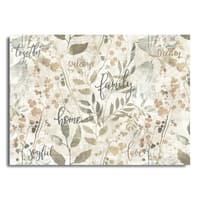 """Blissful Living Homa and Family 4 Pack Rectangle Printed Placemats 18""""x13"""""""