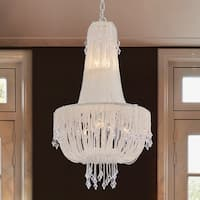 Warehouse of Tiffany Nistrin White Draping Pearls 15-inch 5-light Chandelier