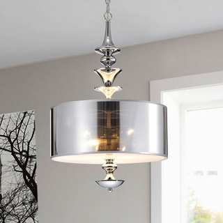 Link to Yemisi 3-Light Chrome Glass 16-Inch Drum Pendant Similar Items in Pendant Lights