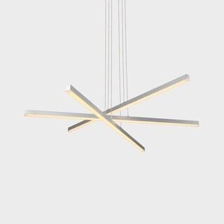 VONN Lighting VMP25030AL Sirius 40-inch Integrated LED Pendant in Silver