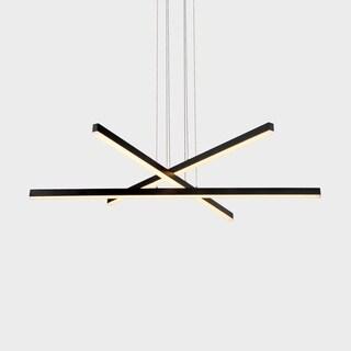 VONN Lighting VMP25030BL Sirius 40-inch Integrated LED Pendant in Black
