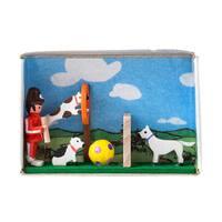 "Alexander Taron Dregeno Matchbox - Dog School - 1.5""H x 2.25""W x .75""D"