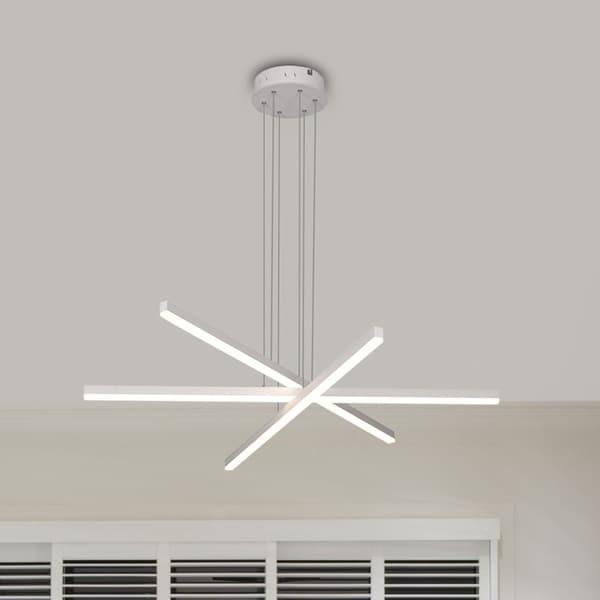 VONN Lighting VMP25030WH Sirius 40-inch Integrated LED Pendant in White
